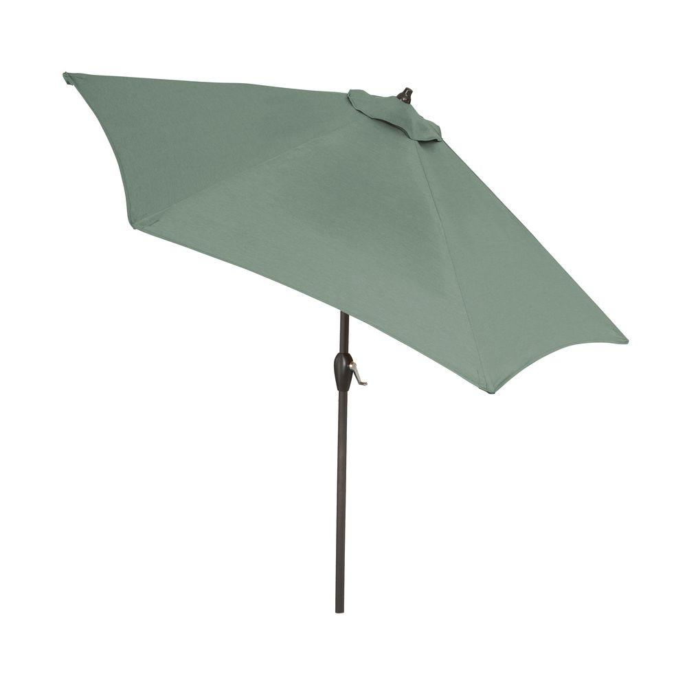 Aluminum Patio Umbrella In Sky Blue With Push Button Tilt 9900 01298800    The Home Depot