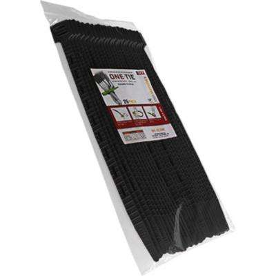 14 in. Cable Ties, Black (25-Pack)