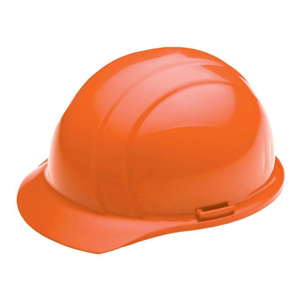 Liberty Liberty 4 Point Plastic Suspension Mega Ratchet Cap Hard Hat in Orange by Liberty