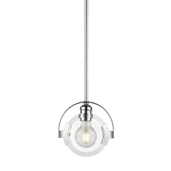 Amari 1-Light Chrome with Chrome Accents Mini Pendant