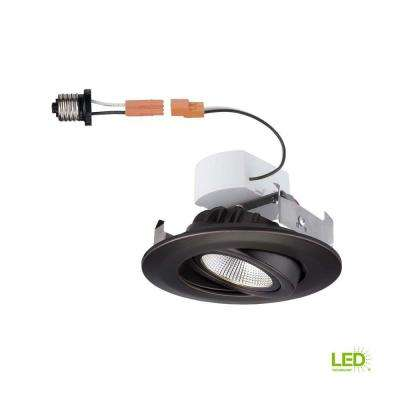 4 in. Bronze Recessed LED Gimbal Trim