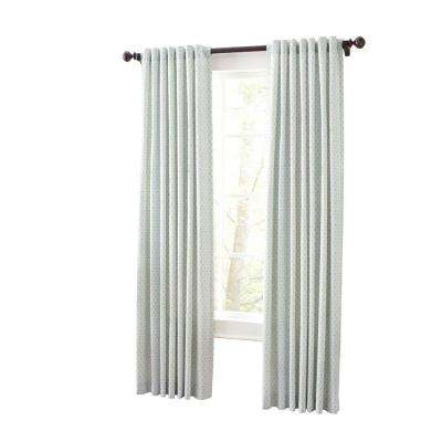 Moroccan Geo Back Tab Curtain
