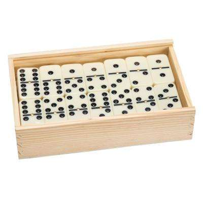 55-Double 9-Dominoes with Wood Case