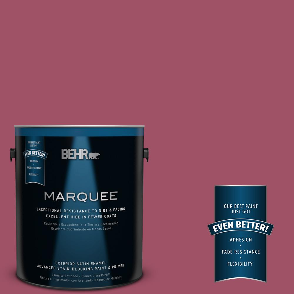 BEHR MARQUEE 1-gal. #110D-5 Mission Wildflower Satin Enamel Exterior Paint