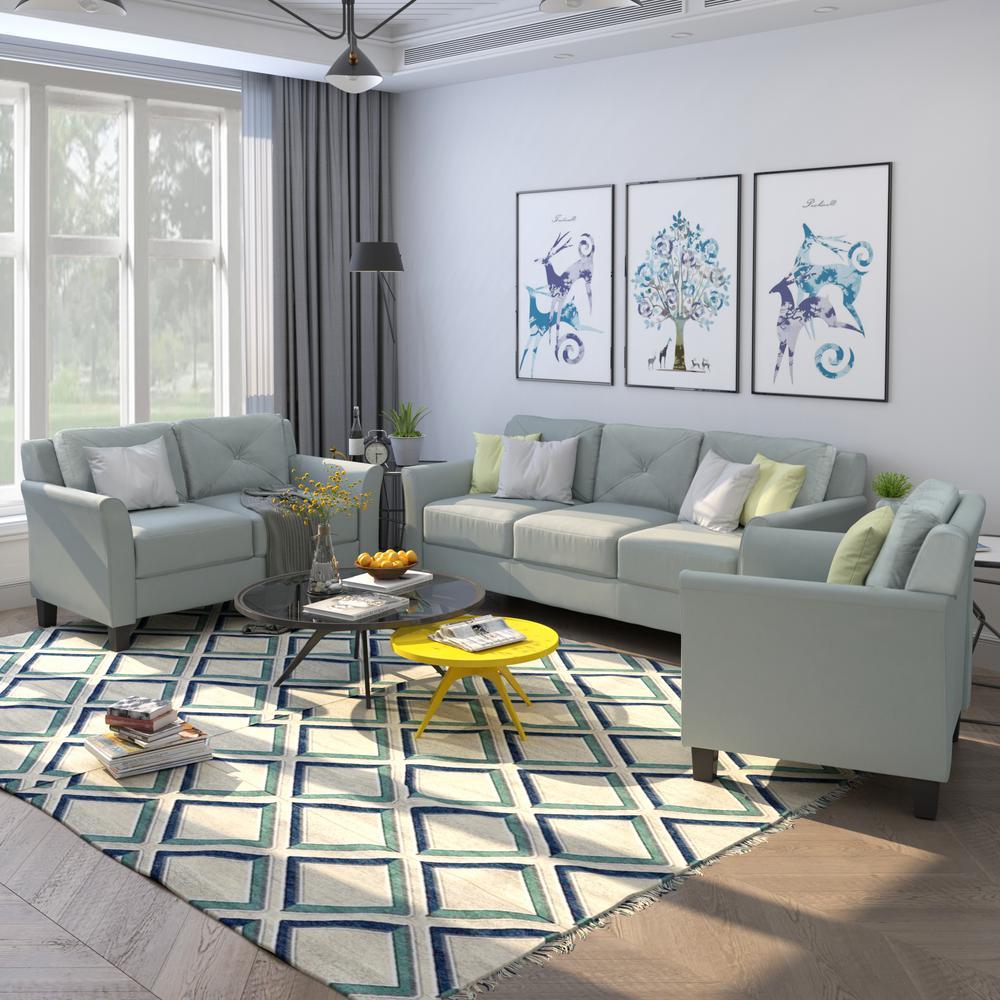 Gray Juarez 3-Piece Living Room Set
