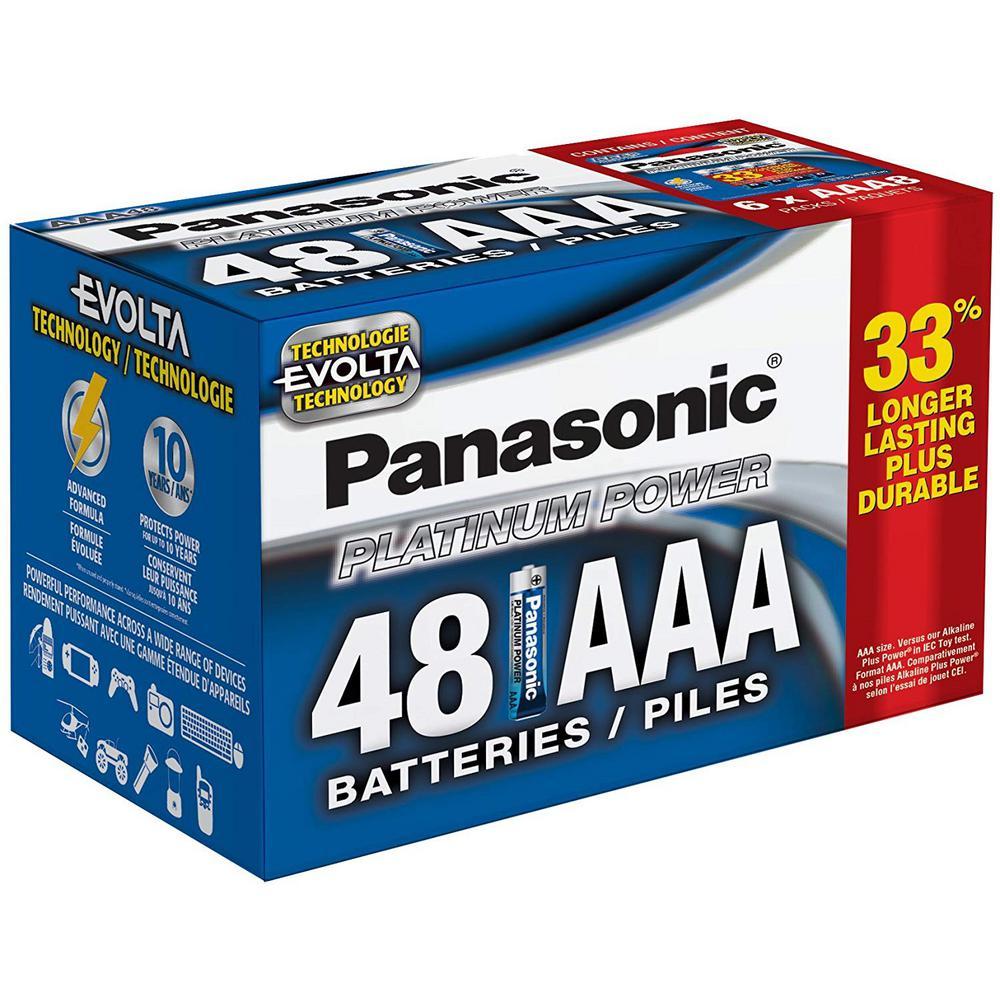 Platinum Power AAA Alkaline Batteries (48-Pack)