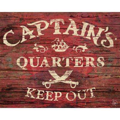 "20 in. x 24 in. ""Captain's Quarters"" Wrapped Canvas Wall Art Print"