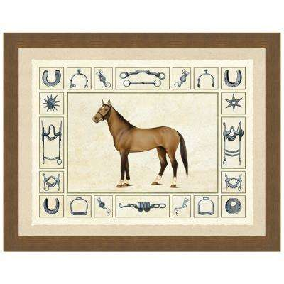 """""""Equestrian I"""" Framed Archival Paper Wall Art (26 in. x 32 in. Full Size)"""