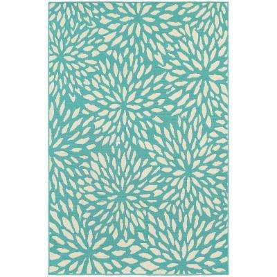 Maldives Aqua 5 ft. x 8 ft. Indoor/Outdoor Area Rug