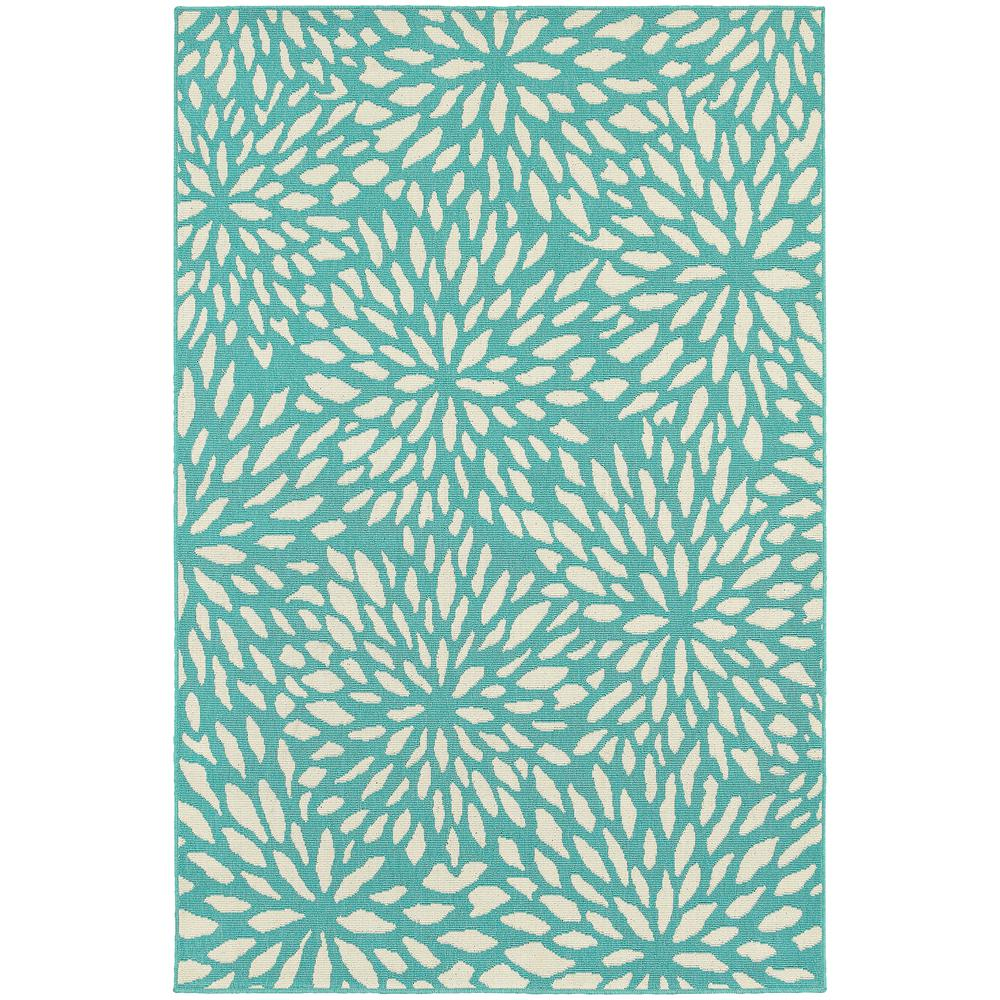 Home Decorators Collection Maldives Aqua 8 Ft 6 In X 13 Ft Indoor Outdoor Area Rug 9525960330