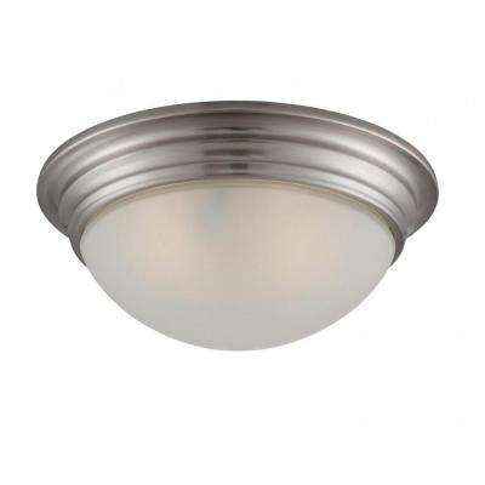 Lisa 2-Light Satin Nickel Flush Mount