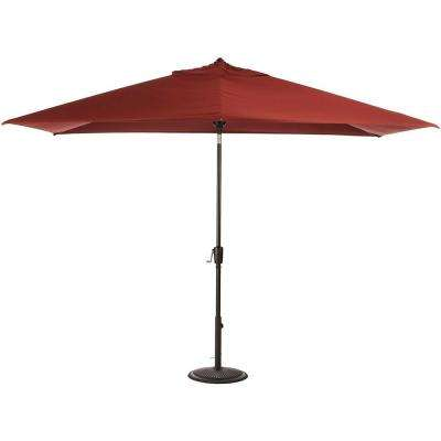 6.5 ft. Aluminum Auto Tilt Patio Umbrella in Sunbrella Henna