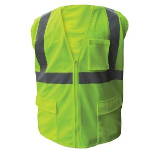 Enguard Size 5X-Large Lime ANSI Class 2 Fire Retardant Poly Mesh Safety Vest by Enguard