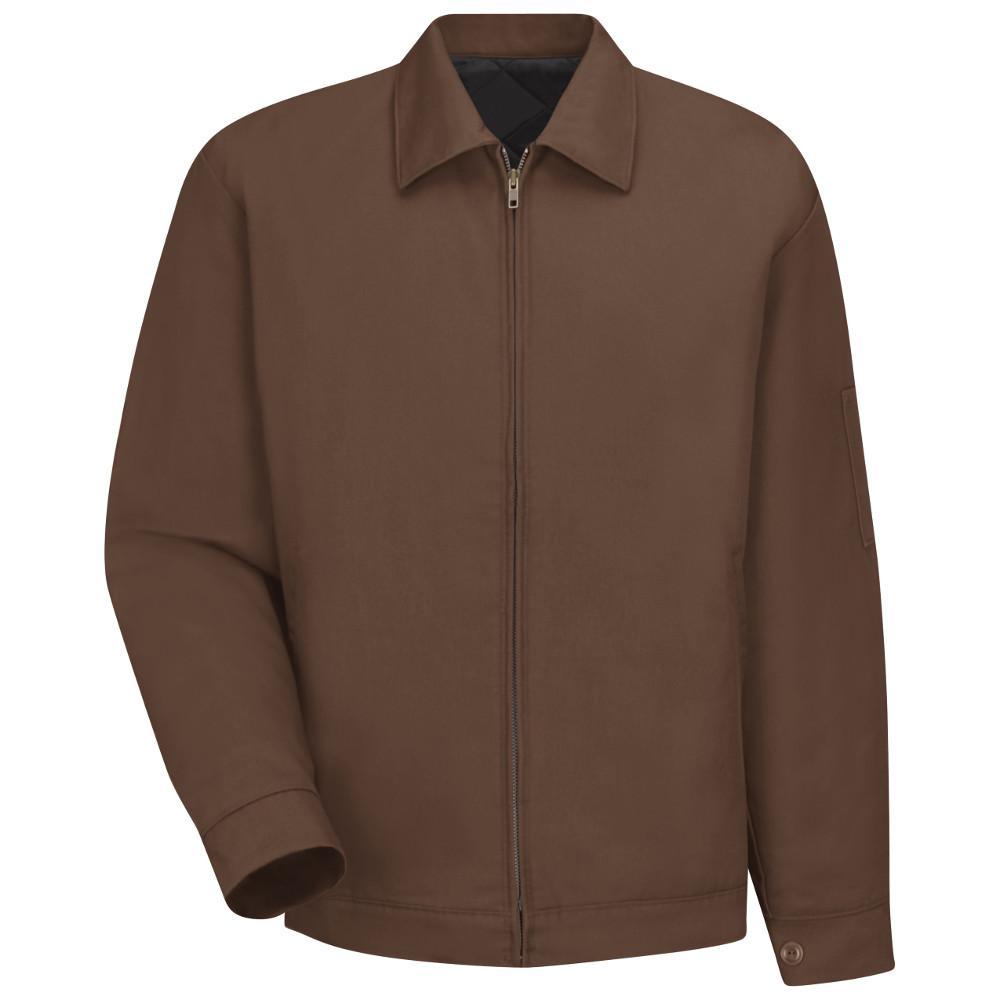 Men's Size 4XL Brown Slash Pocket Jacket