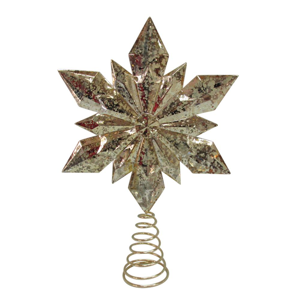 13.25 in. Gold Snowflake Tree Topper