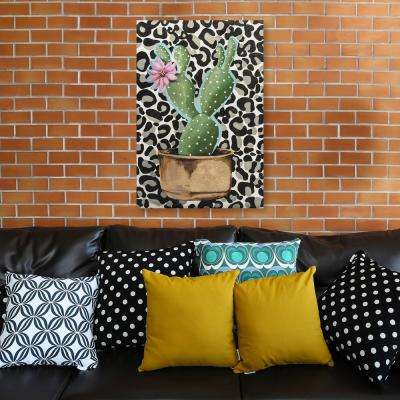 """20 in. x 30 in. """"Crazy Cacti II"""" by Jade Printed and Painted Canvas Wall Art"""