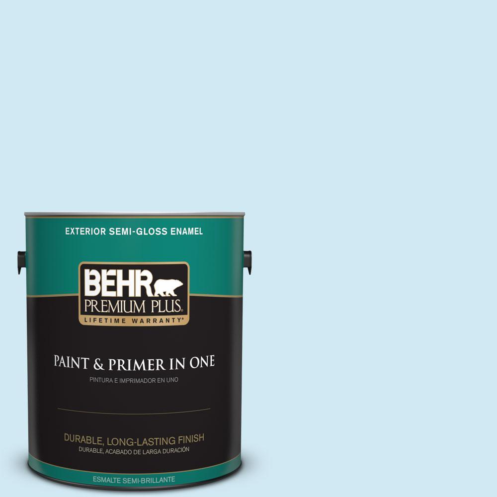 1-gal. #540C-1 Mineral Water Semi-Gloss Enamel Exterior Paint