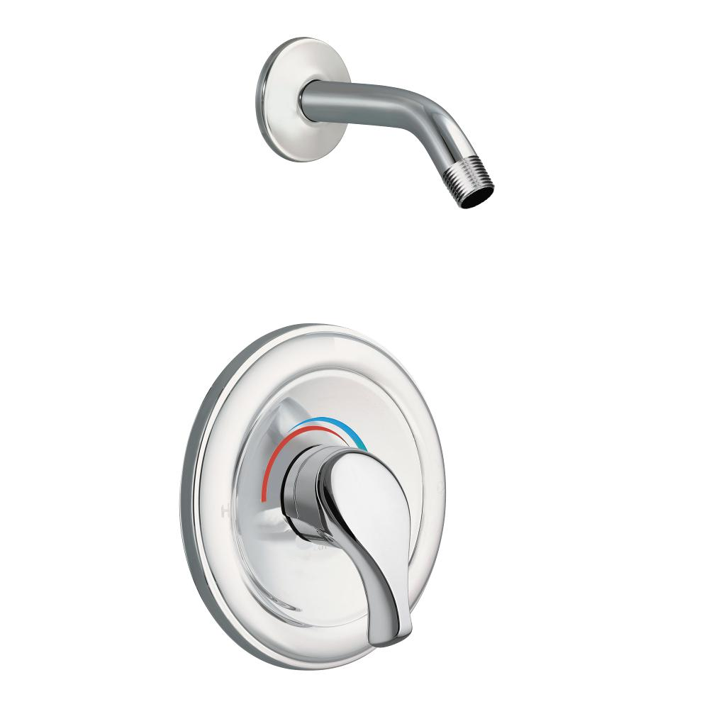 Moen Legend Moentrol 1 Handle Shower Only Faucet Trim Kit In Chrome Valve And Shower Head Not