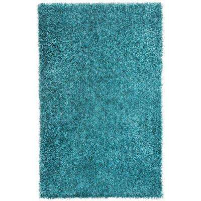 Shine Smoke Blue 5 ft. x 8 ft. Solid Area Rug