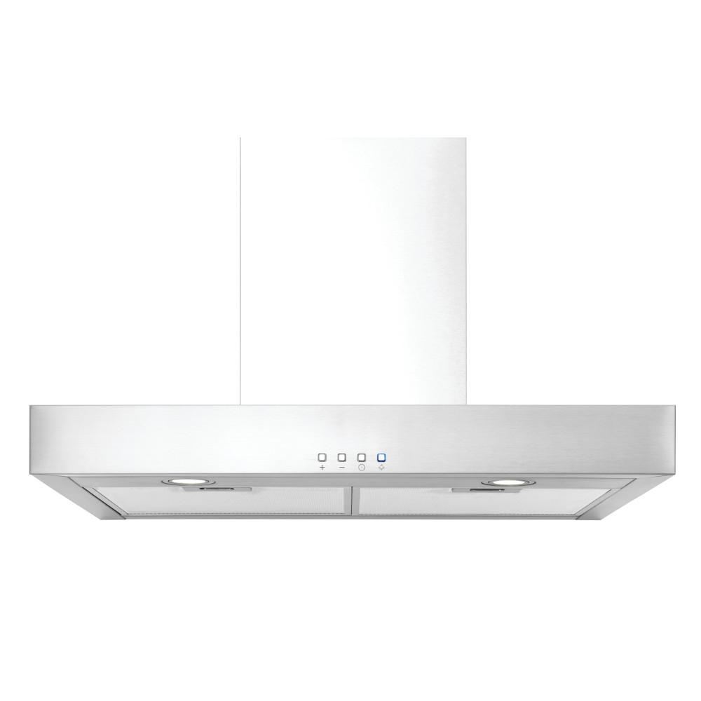 Broan-NuTone NuTone 30-In. Convertible Wall Mount T-Style Chimney Range Hood with LED Light in Stainless Steel