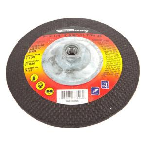 Forney 7 inch x 1/4 inch x 5/8 in.-11 Threaded Metal Type 28 Grinding Wheel by Forney