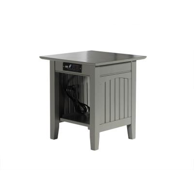 Nantucket Grey End Table with Charger