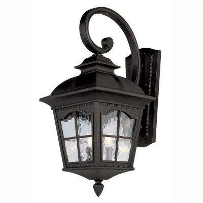 Bostonian 4-Light Black Outdoor Coach Lantern with Water Glass  sc 1 st  Home Depot & Outdoor Sconces - Cottage - Outdoor Wall Mounted Lighting - Outdoor ...