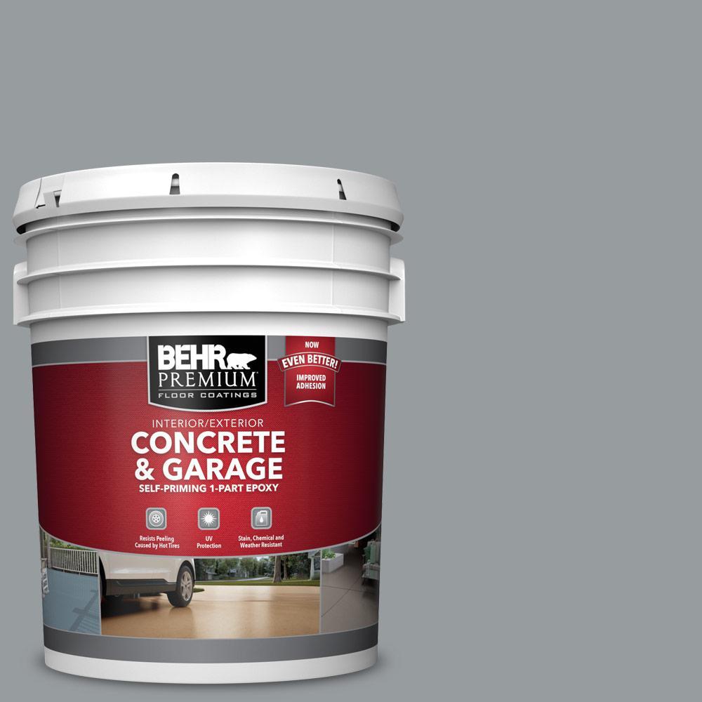 5 gal. #N500-4 Pencil Sketch Self-Priming 1-Part Epoxy Satin Interior/Exterior Concrete and Garage Floor Paint