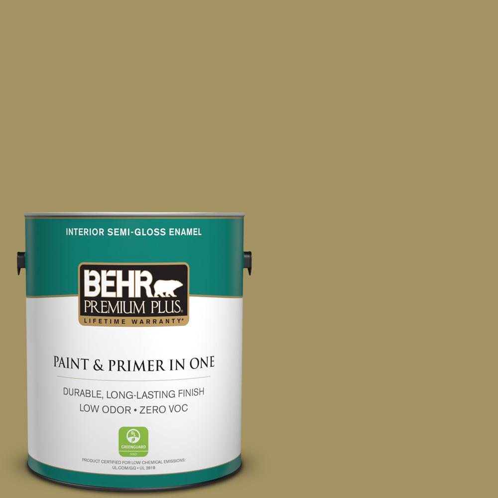 BEHR Premium Plus 1-gal. #M330-6 Keemun Semi-Gloss Enamel Interior Paint