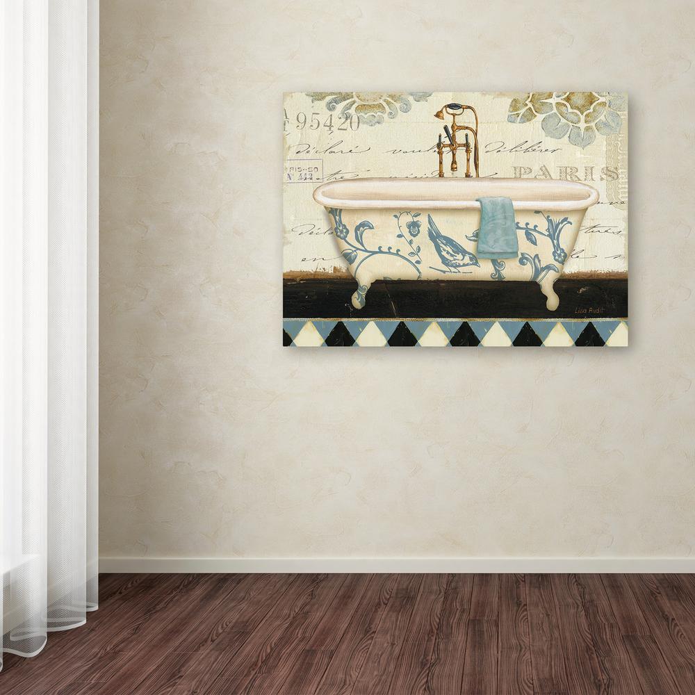 """18 in. x 24 in. """"Marche de Fleurs Bath II"""" by Lisa Audit Printed Canvas Wall Art"""