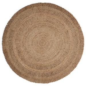 Lr Resources Natural Jute Gray Round 6 Ft X 6 Ft Indoor