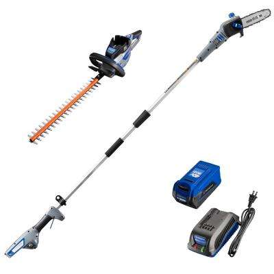 40V Hedge Trimmer and Pole Saw with 40V 2.0 Ah Battery and Battery Charger