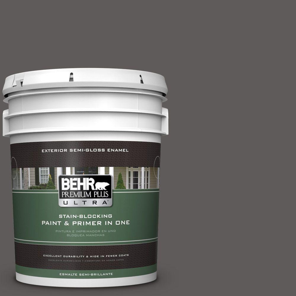 5-gal. #PPU18-19 Intellectual Semi-Gloss Enamel Exterior Paint