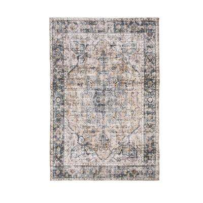 Rose Galveston Charcoal/Brown/Multi 8 ft. x 10 ft. Area Rug