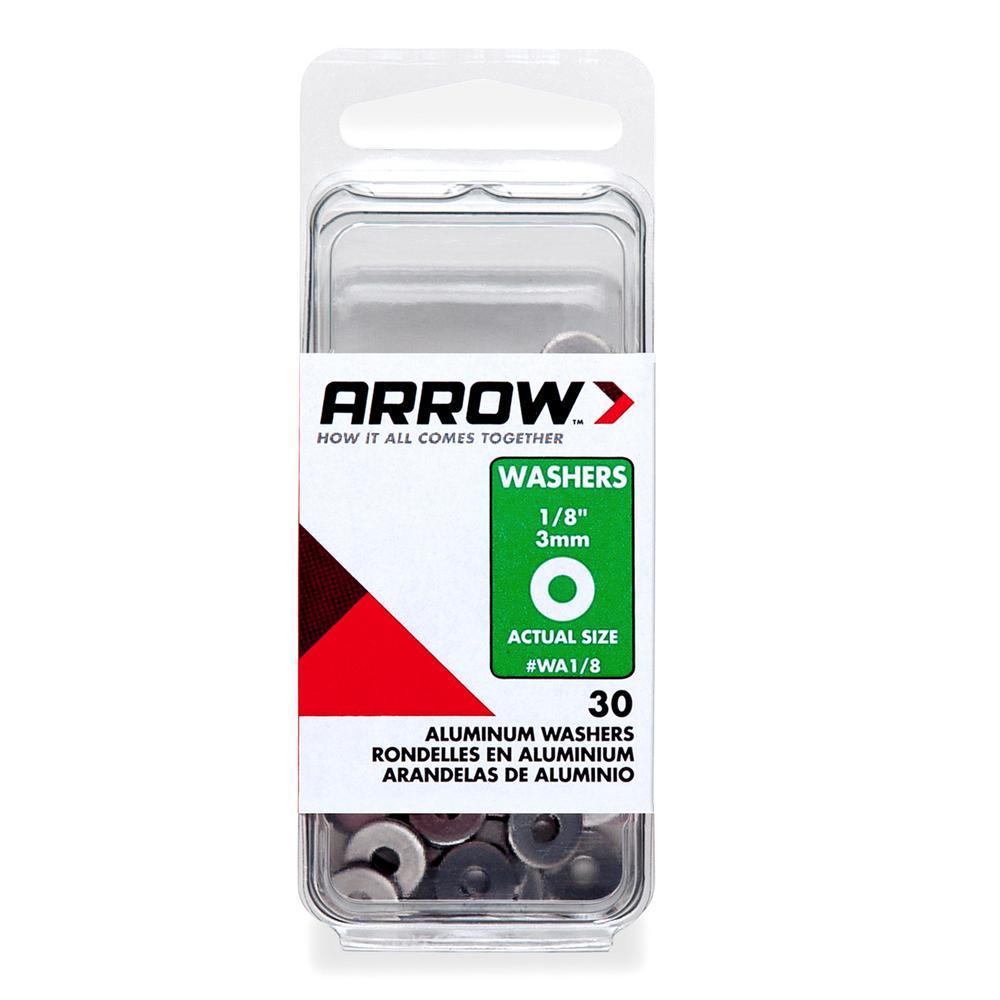 1/8 in. Aluminum Rivet Washer (30-Pack)