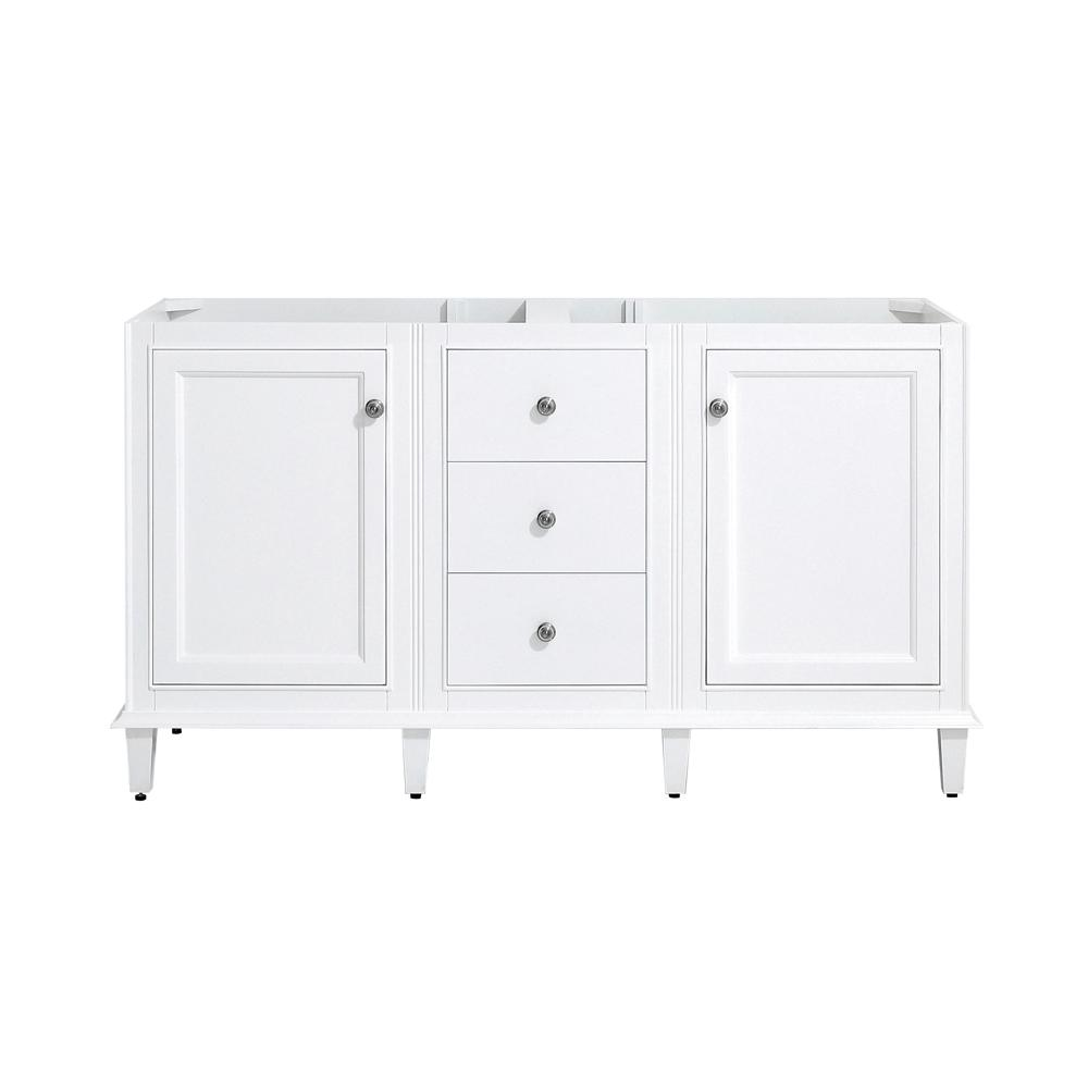 Riverpine 60 in. W x 22 in. D Vanity cabinet Only in White