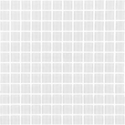 Metro Snow White 12 in. x 12 in. x 6 mm Glass Mosaic Tile