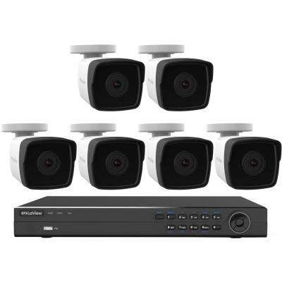 8-Channel 1080P IP Surveillance 4TB NVR Security System (6) 1080P Wired Indoor/Outdoor Cameras Free Remote View