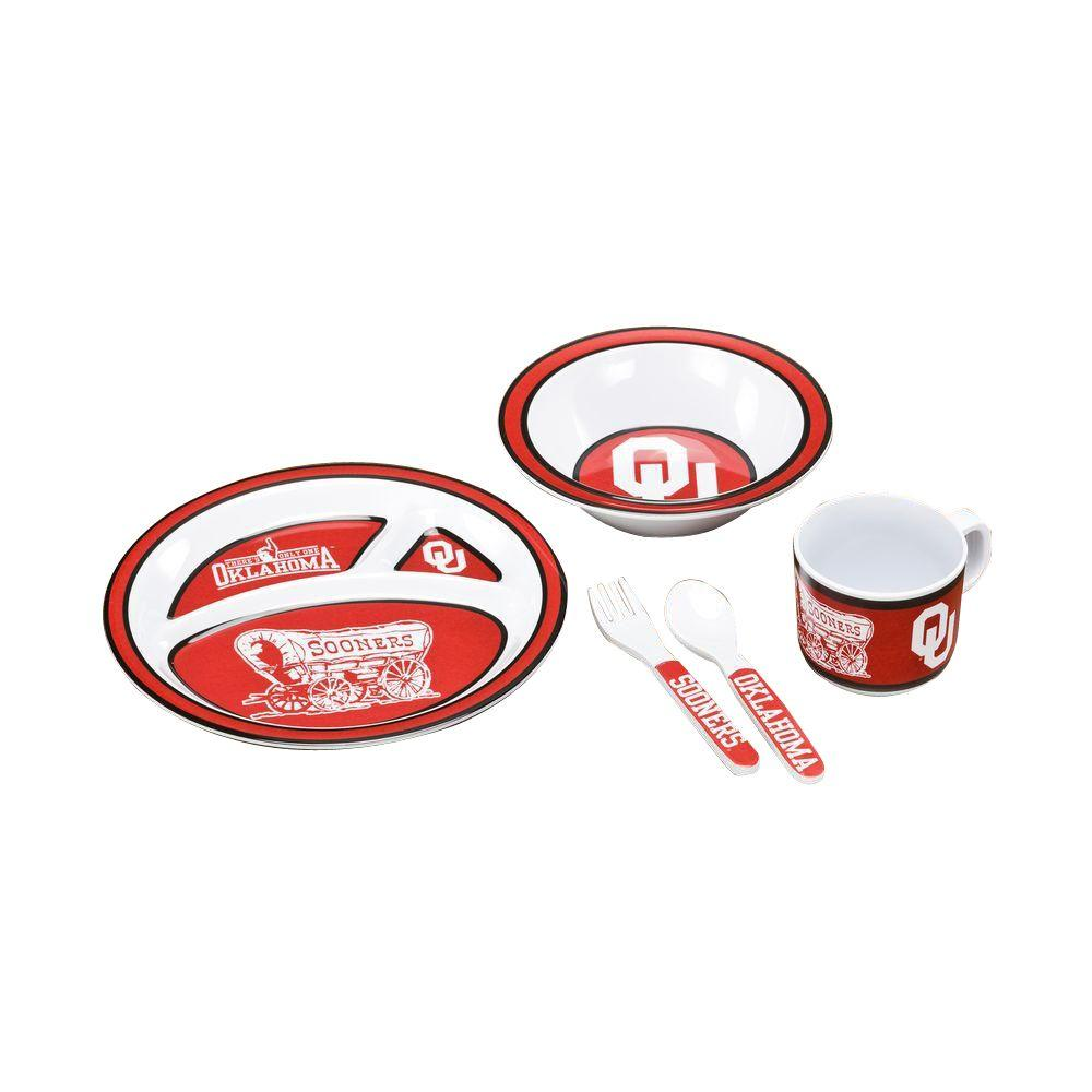 NCAA Oklahoma Sooners 5-Piece Kid's Dish Set