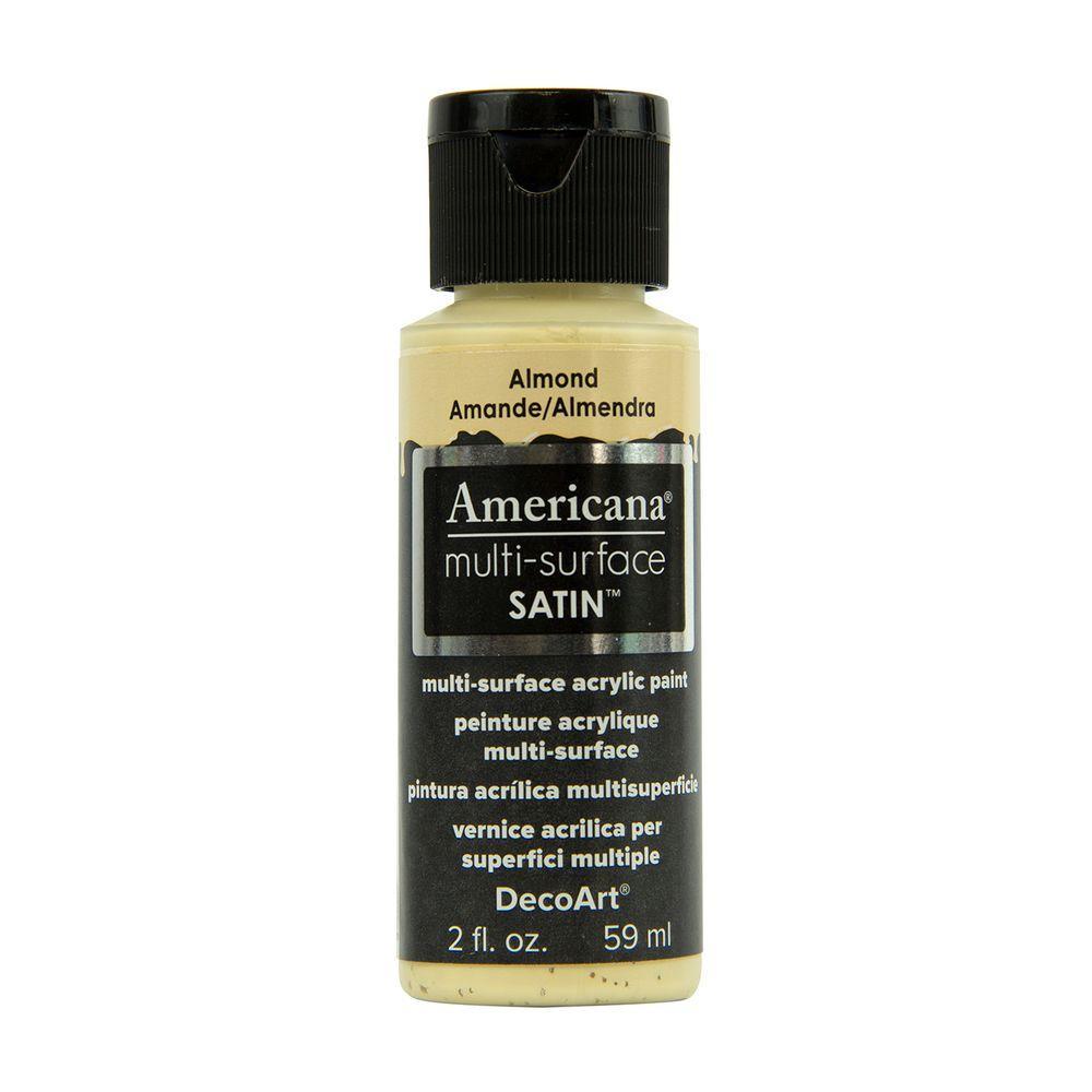 decoart americana 2 oz almond satin multi surface acrylic. Black Bedroom Furniture Sets. Home Design Ideas