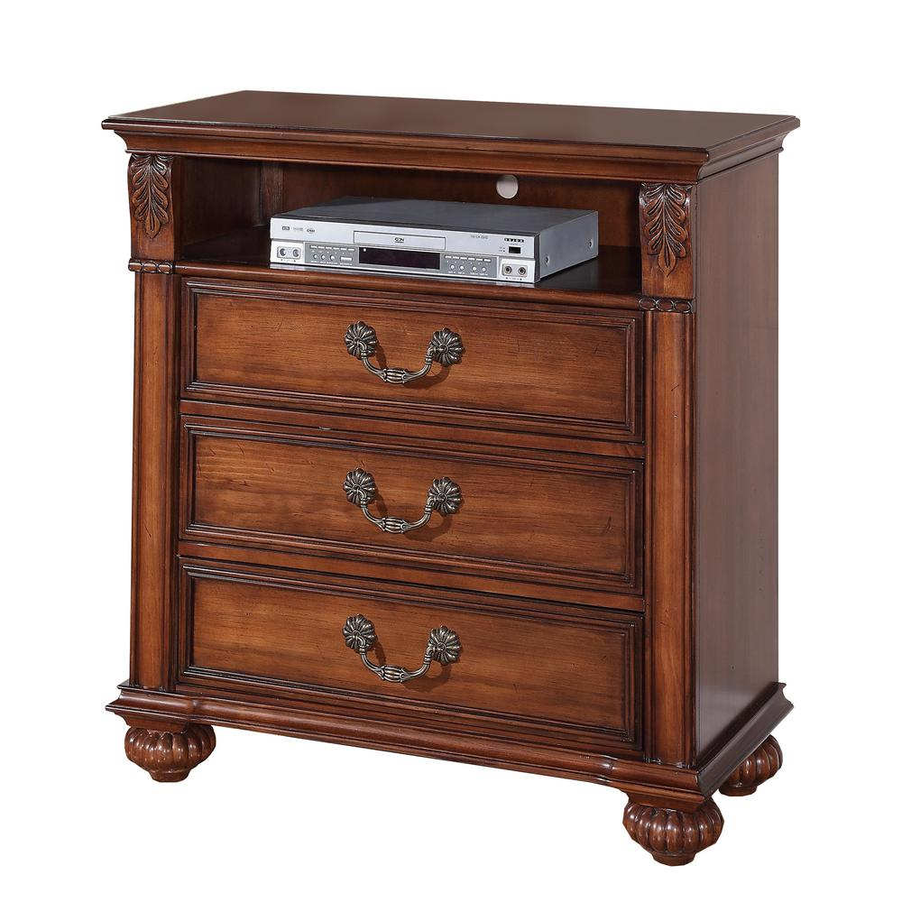 Barrow Oak 3-Drawer Media Chest