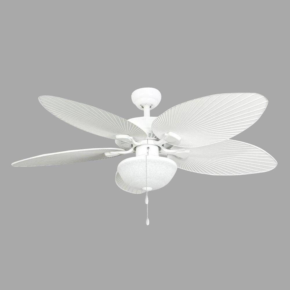 Tropical Outdoor Ceiling Fan: TroposAir Quantum 52 In. Pure White Ceiling Fan-88401