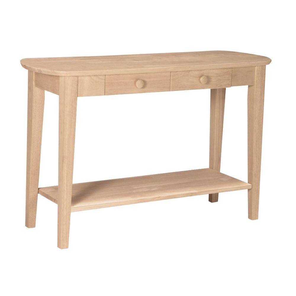 International Concepts Philips Unfinished Storage Console Table