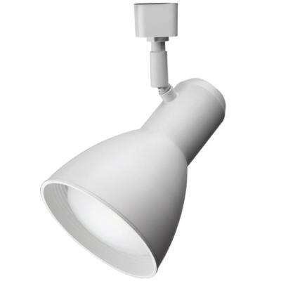 Step Baffle 1-Light White LED BR30 Track Lighting