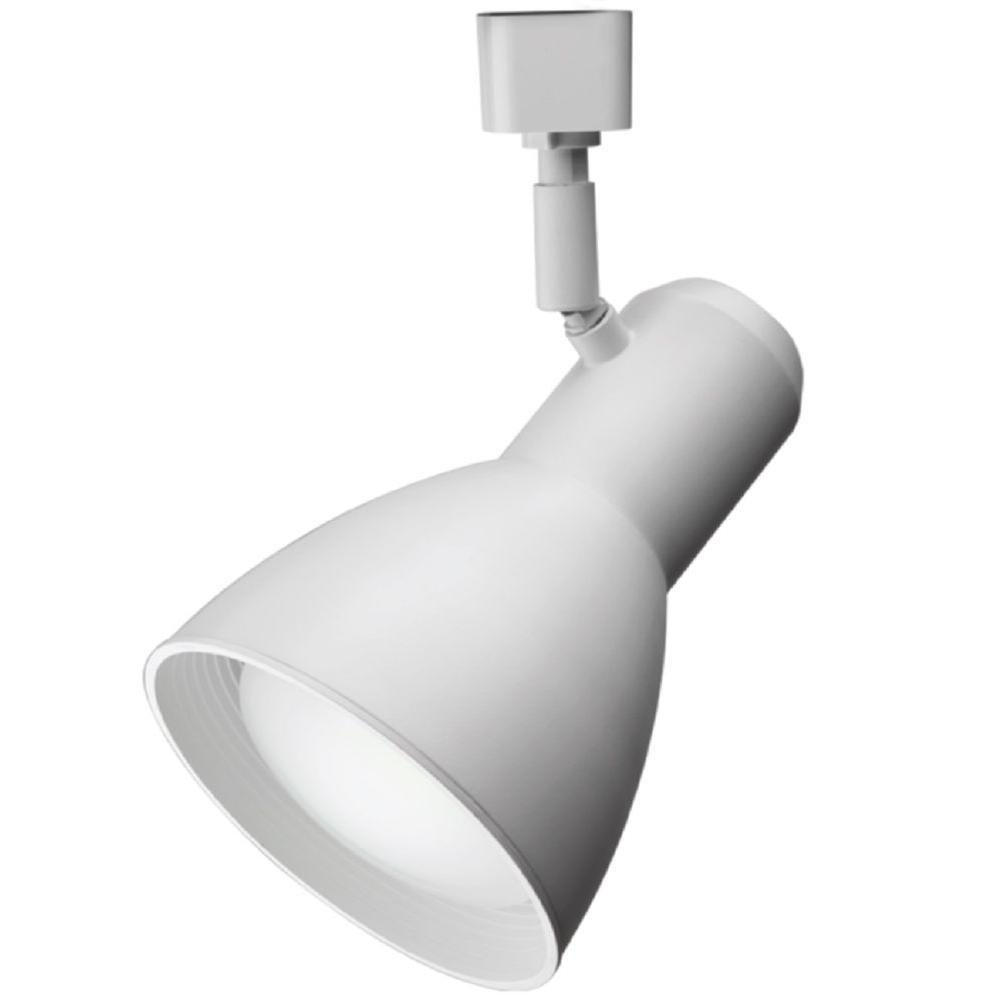 Step Baffle 1-Light White LED BR30 Track Lighting