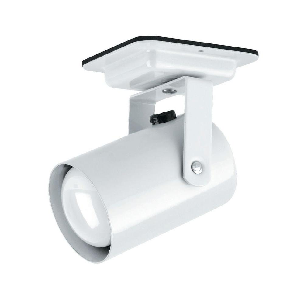 Designer Collection 1-Light 4 in. White Track Head with White Metal