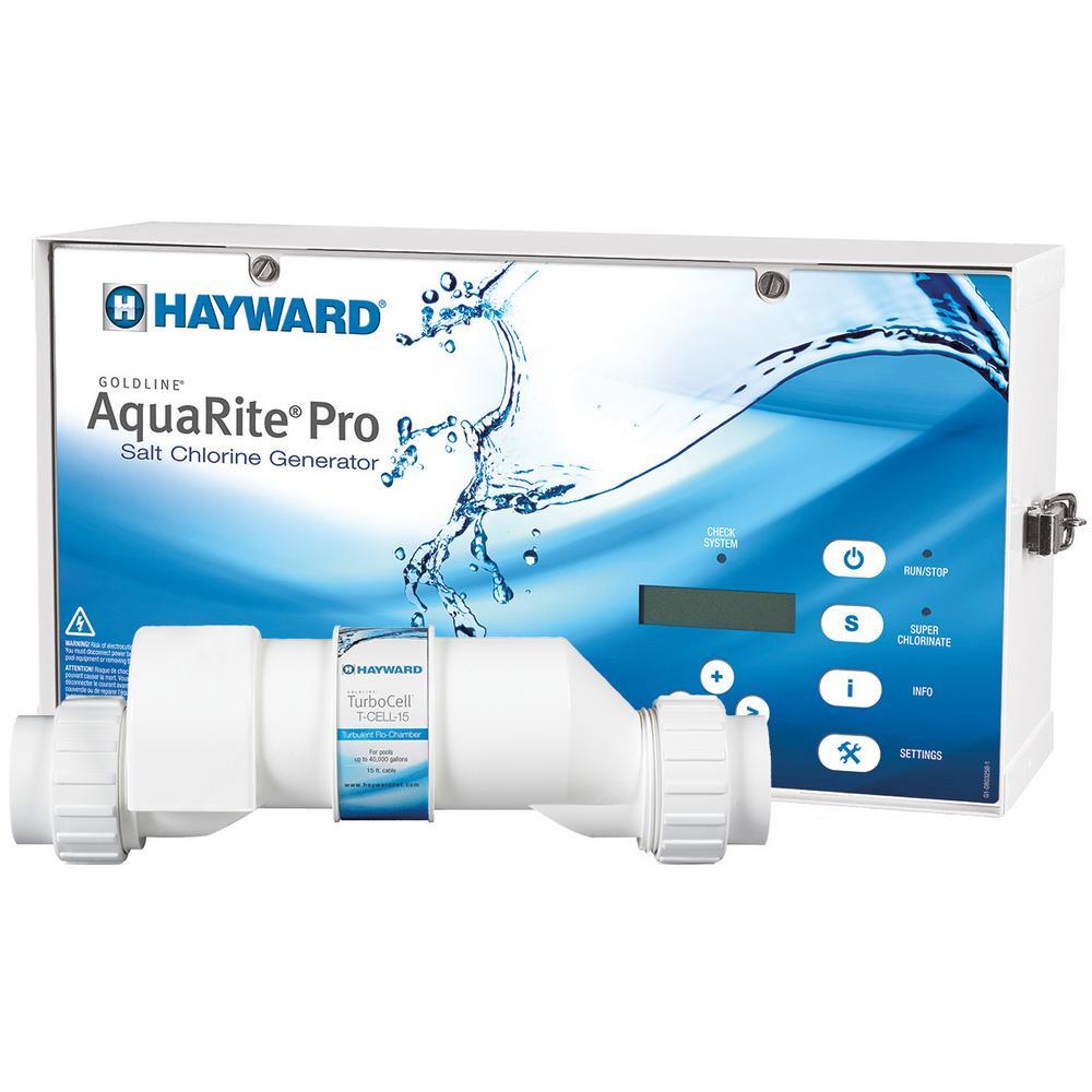 Hayward AquaRite Pro 40,000 gal. In-Ground Salt Water Chlorinator
