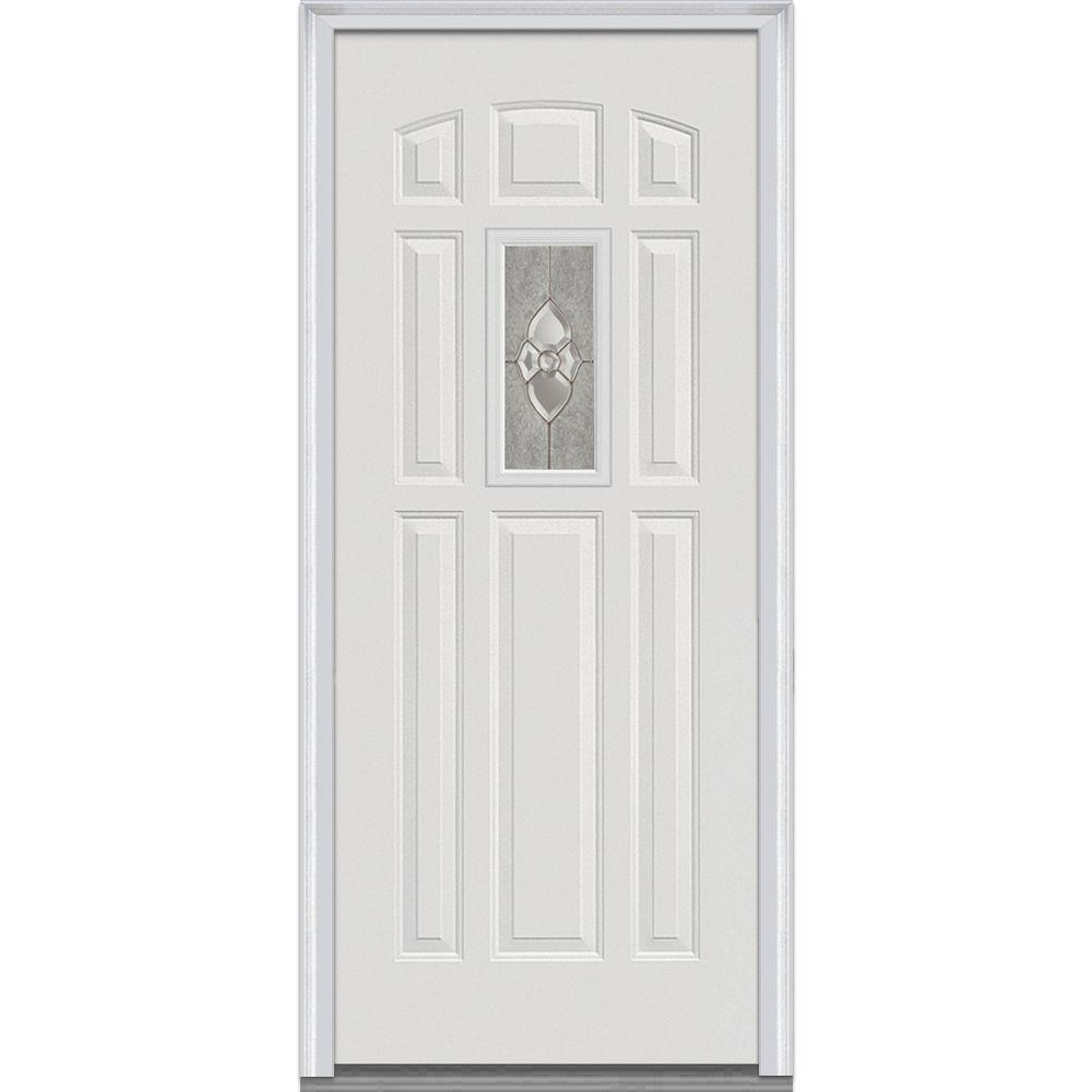Mmi door 36 in x 80 in master nouveau right hand center for 8 lite exterior door