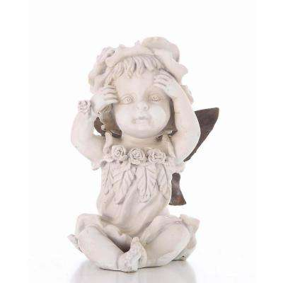 Baby Fairy Hands on Face Statue
