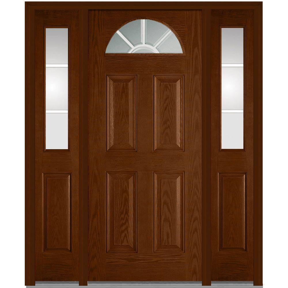 wooden exterior doors. 64 in  x 80 GBG Left Hand 1 4 Lite Front Doors Exterior The Home Depot